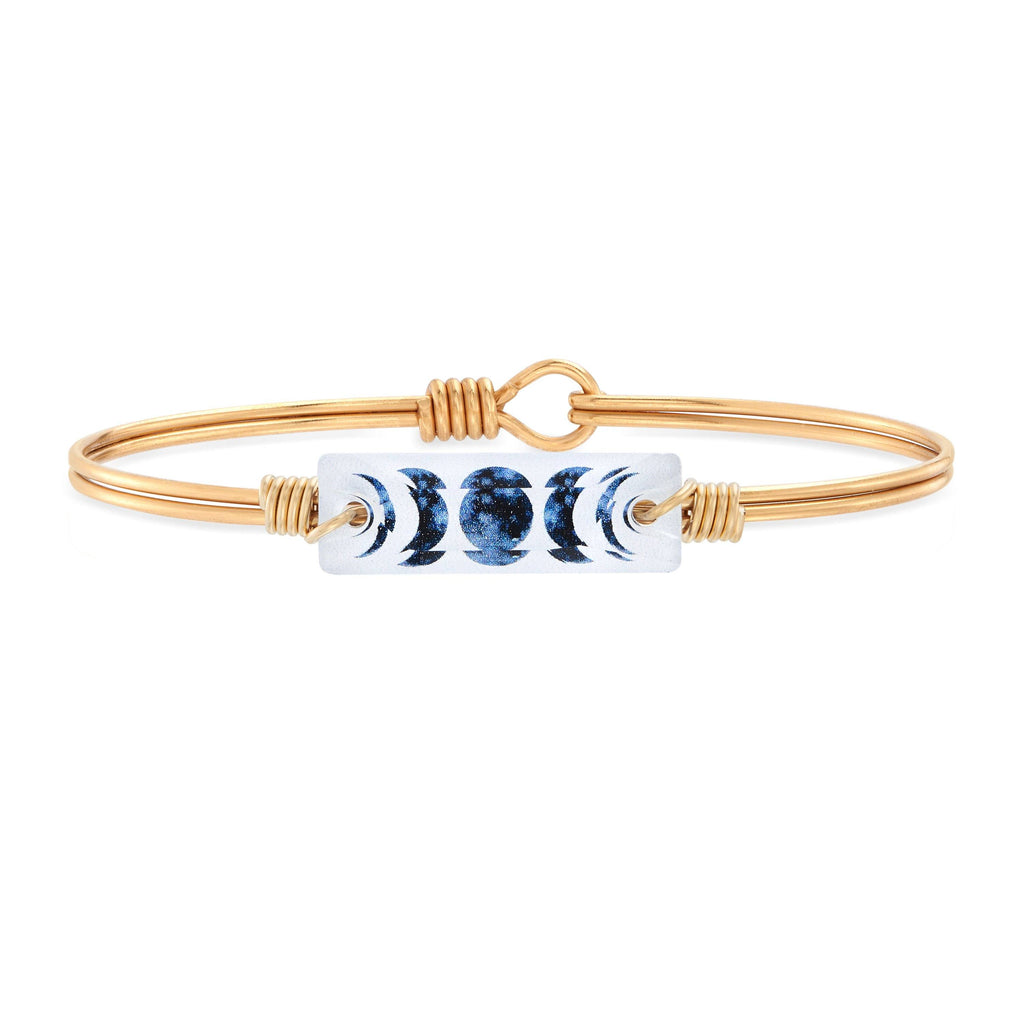 Luna Bangle Bracelet choose finish:Brass Tone