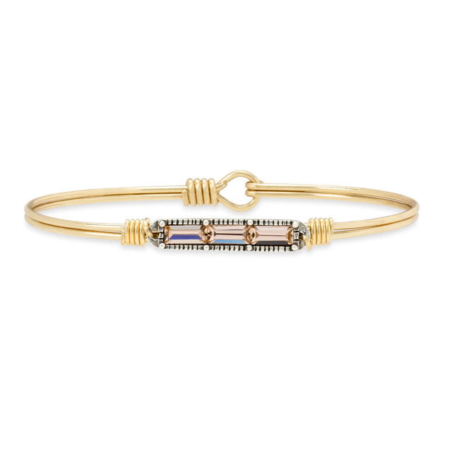 Mini Hudson Bangle Bracelet in Peach finish:Brass Tone