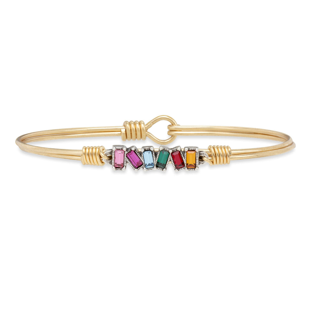 Mini Hudson Bangle Bracelet in Ombre finish:Brass Tone