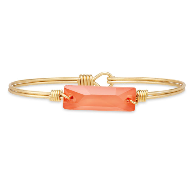 Hudson Bangle Bracelet in Living Coral finish:Brass Tone