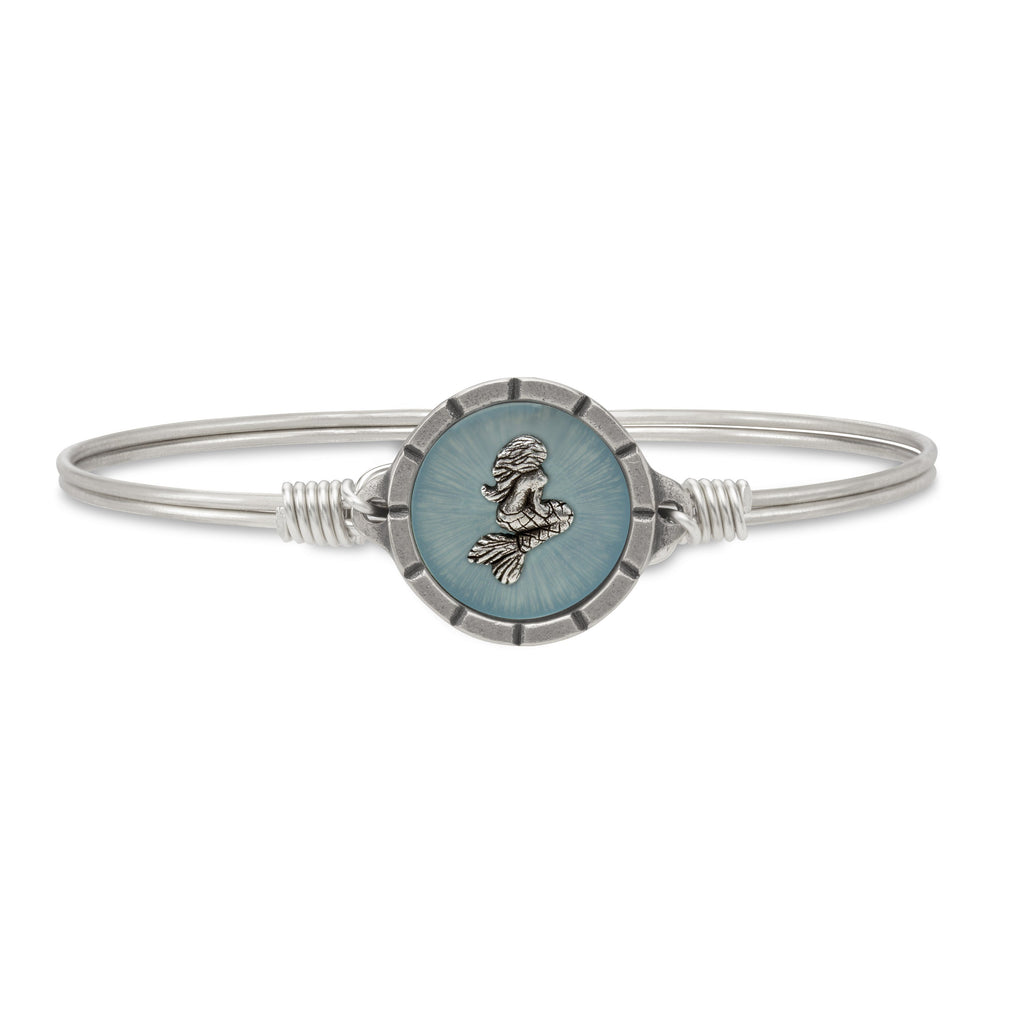 Mermaid Isla Bangle Bracelet choose finish:Silver Tone