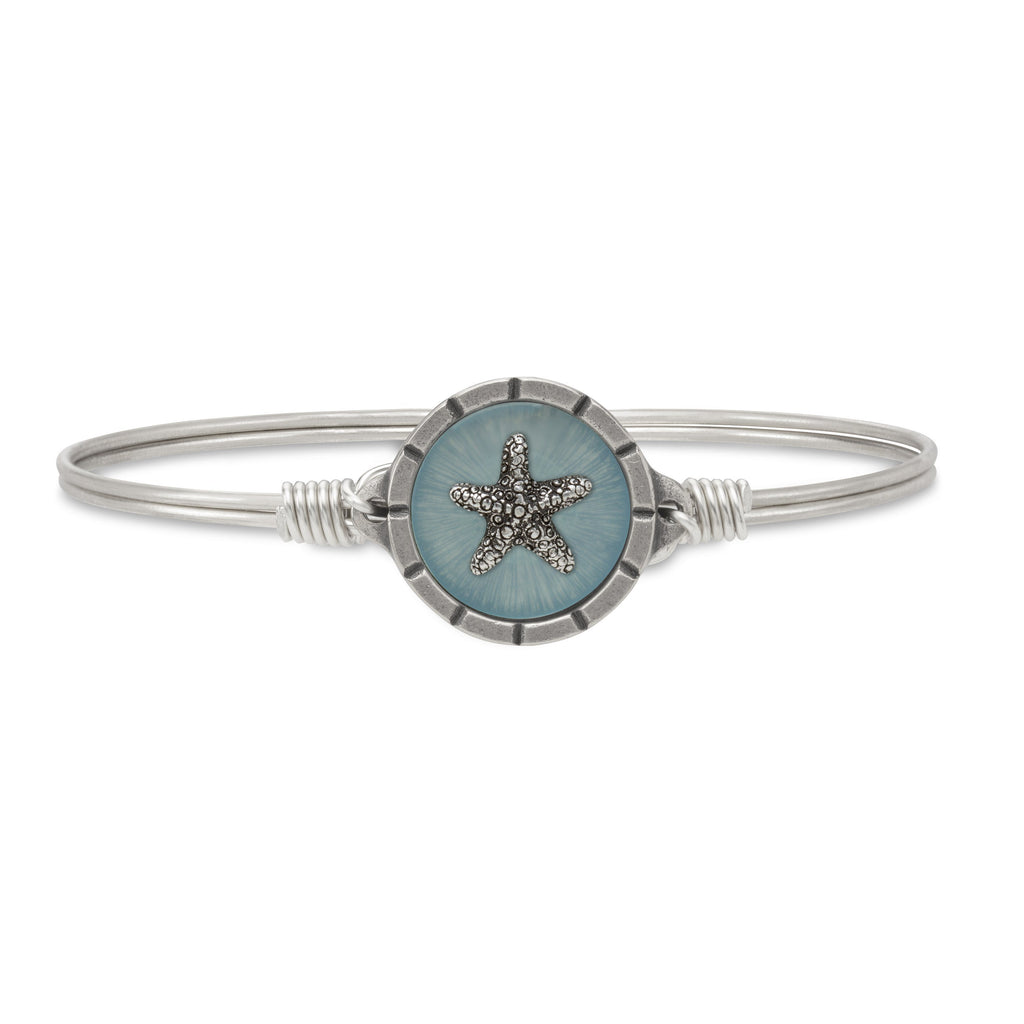 Starfish Isla Bangle Bracelet choose finish:Silver Tone