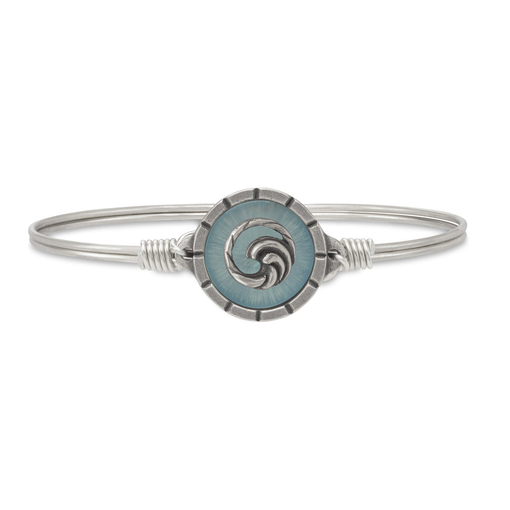 Wave Isla Bangle Bracelet choose finish:Silver Tone