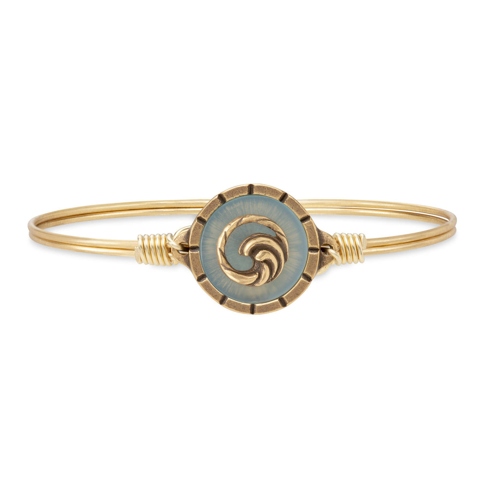 Wave Isla Bangle Bracelet choose finish:Brass Tone