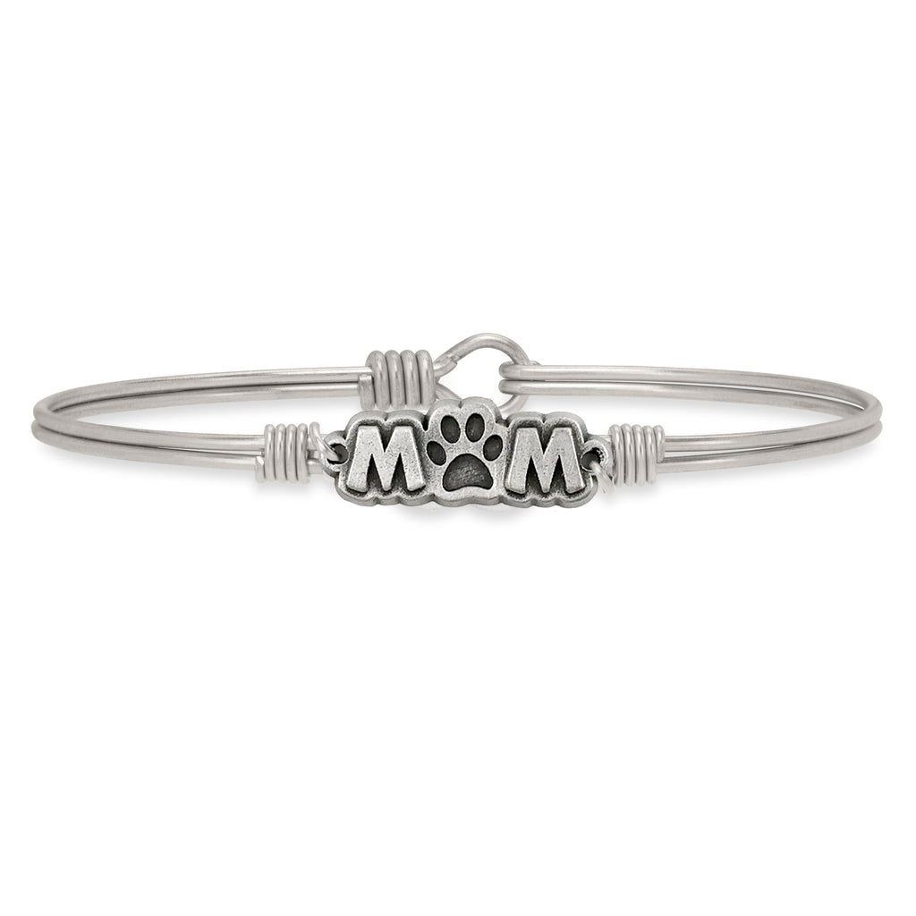 Fur Mom Bangle Bracelet finish:Silver Tone