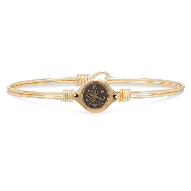 Scorpio Zodiac Bangle Bracelet finish:Brass Tone