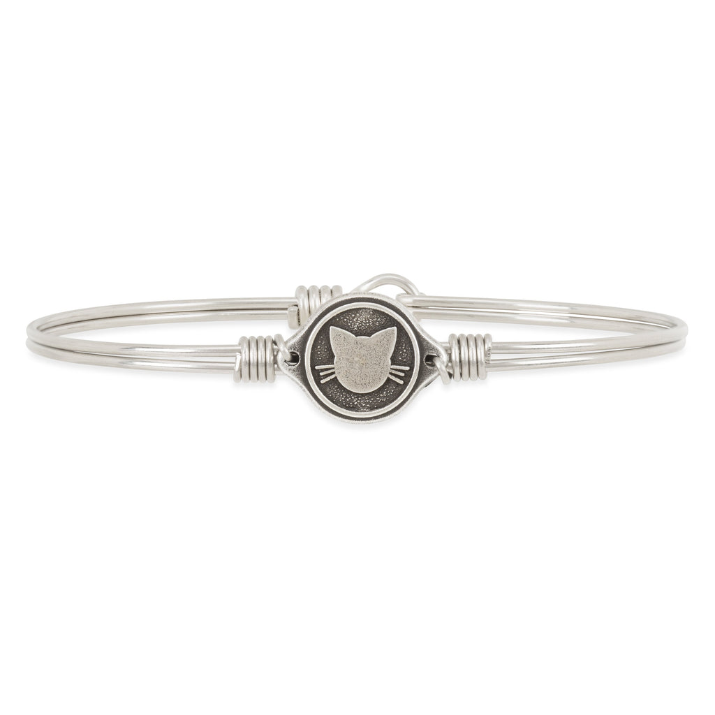 Meow Bangle Bracelet finish:Silver Tone