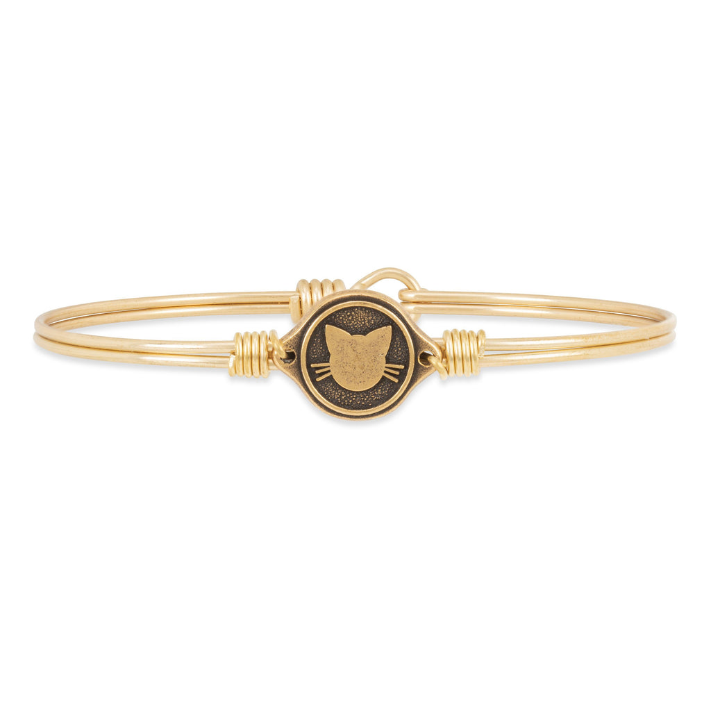 Meow Bangle Bracelet choose finish:Brass Tone