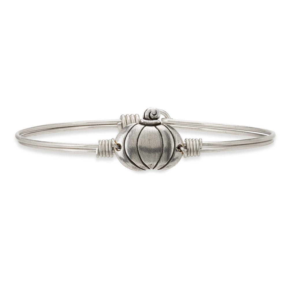 Pumpkin Bangle Bracelet choose finish:Silver Tone