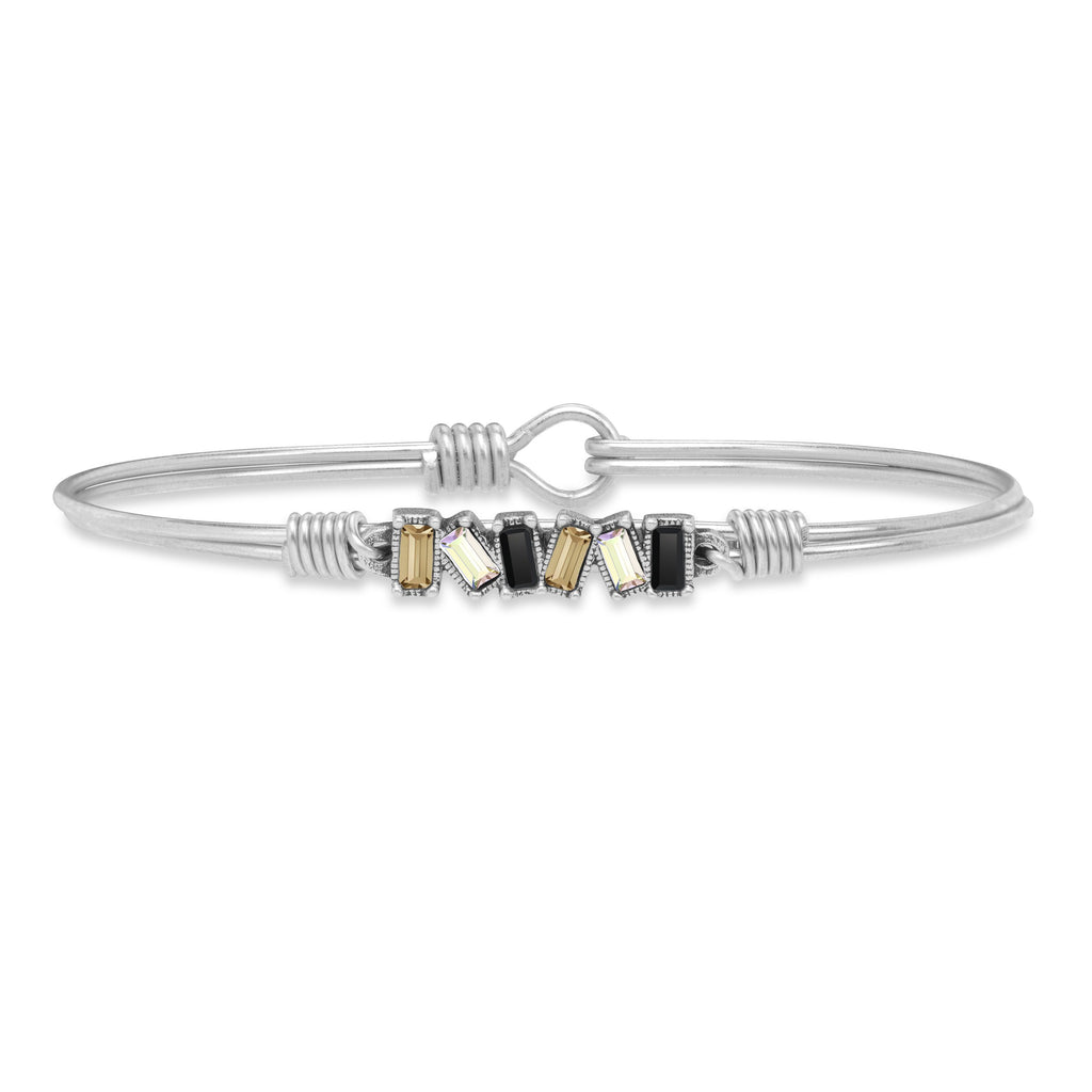 Mini Hudson Bangle Bracelet in Luxe Ombre finish:Silver Tone