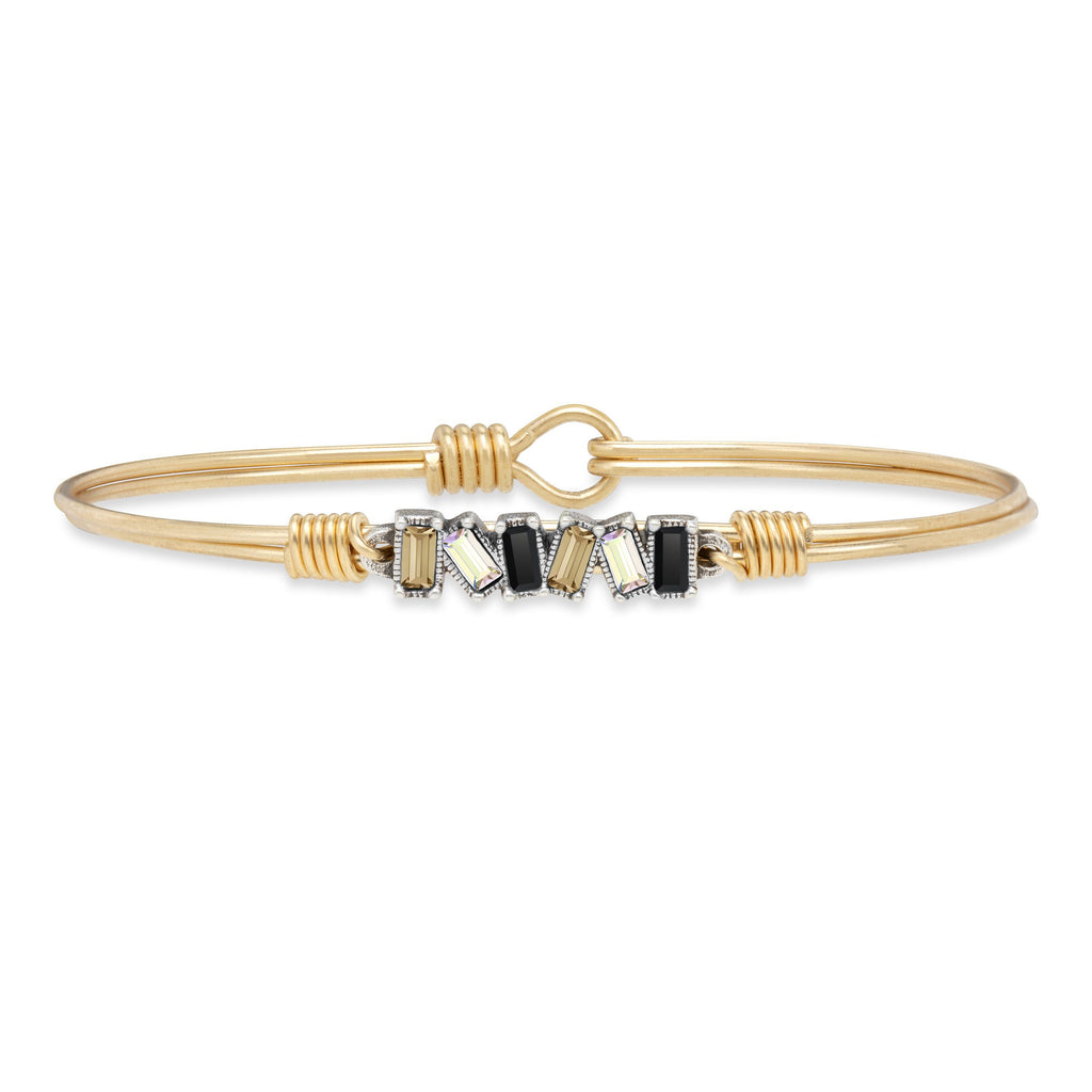 Mini Hudson Bangle Bracelet in Luxe Ombre finish:Brass Tone