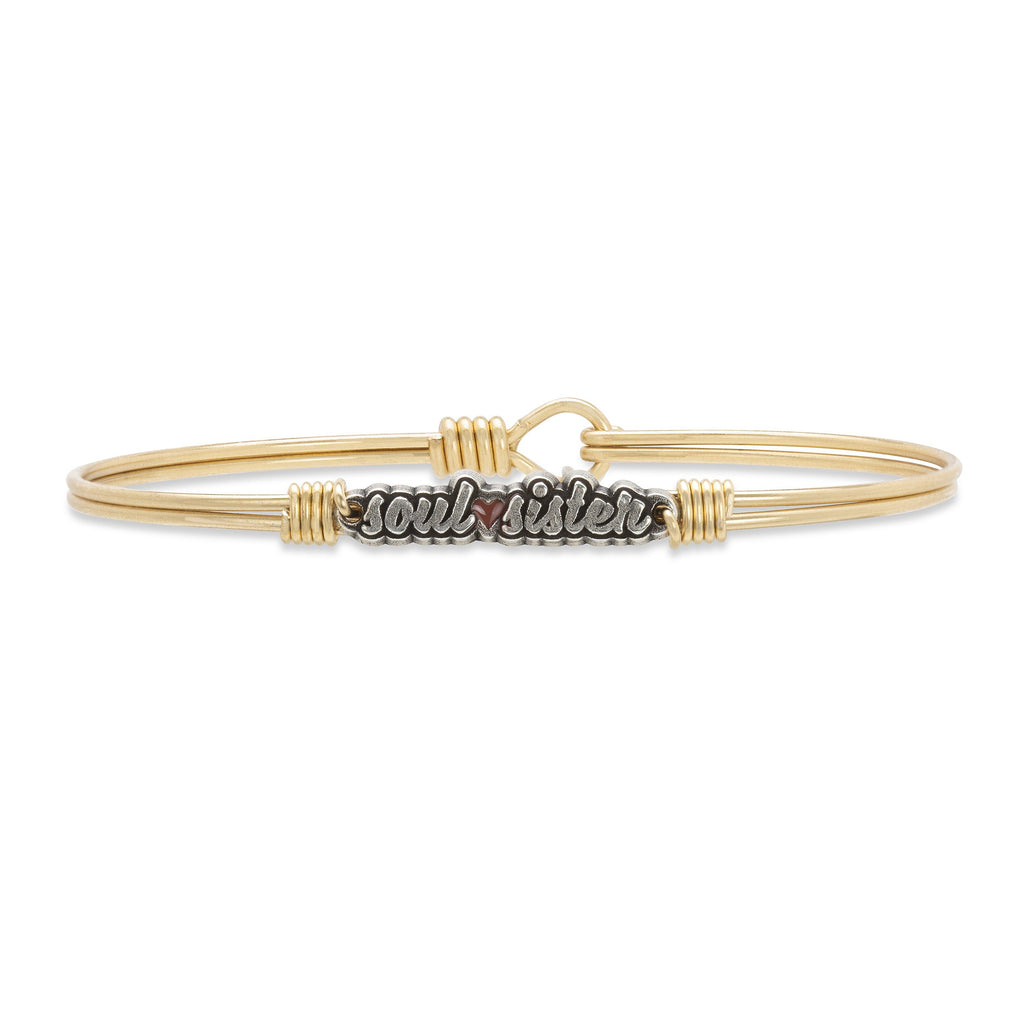 Soul Sister Bangle Bracelet finish:Brass Tone