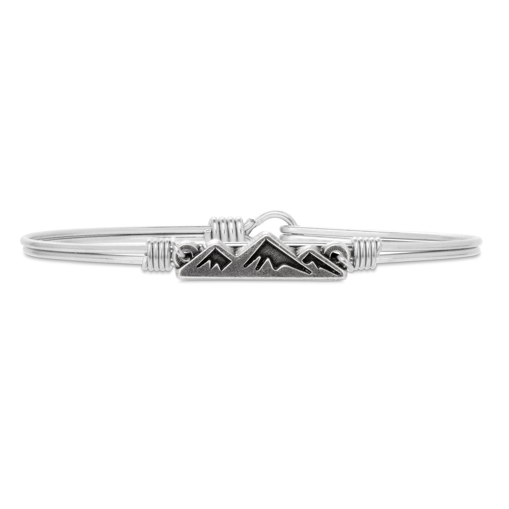 Mountain Bangle Bracelet choose finish:Silver Tone