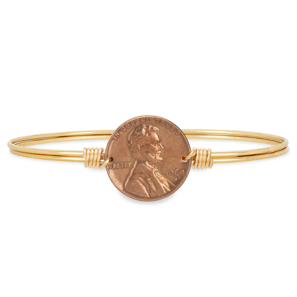 Heavenly Pennies Bangle Bracelet choose finish:Brass Tone