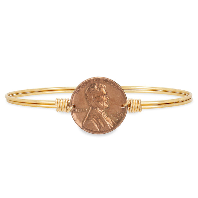 Heavenly Pennies Bangle Bracelet finish:Brass Tone