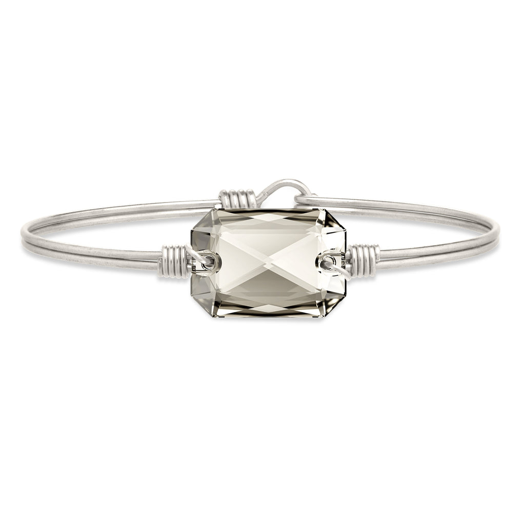 Dylan Bangle Bracelet in Silver Shade finish:Silver Tone