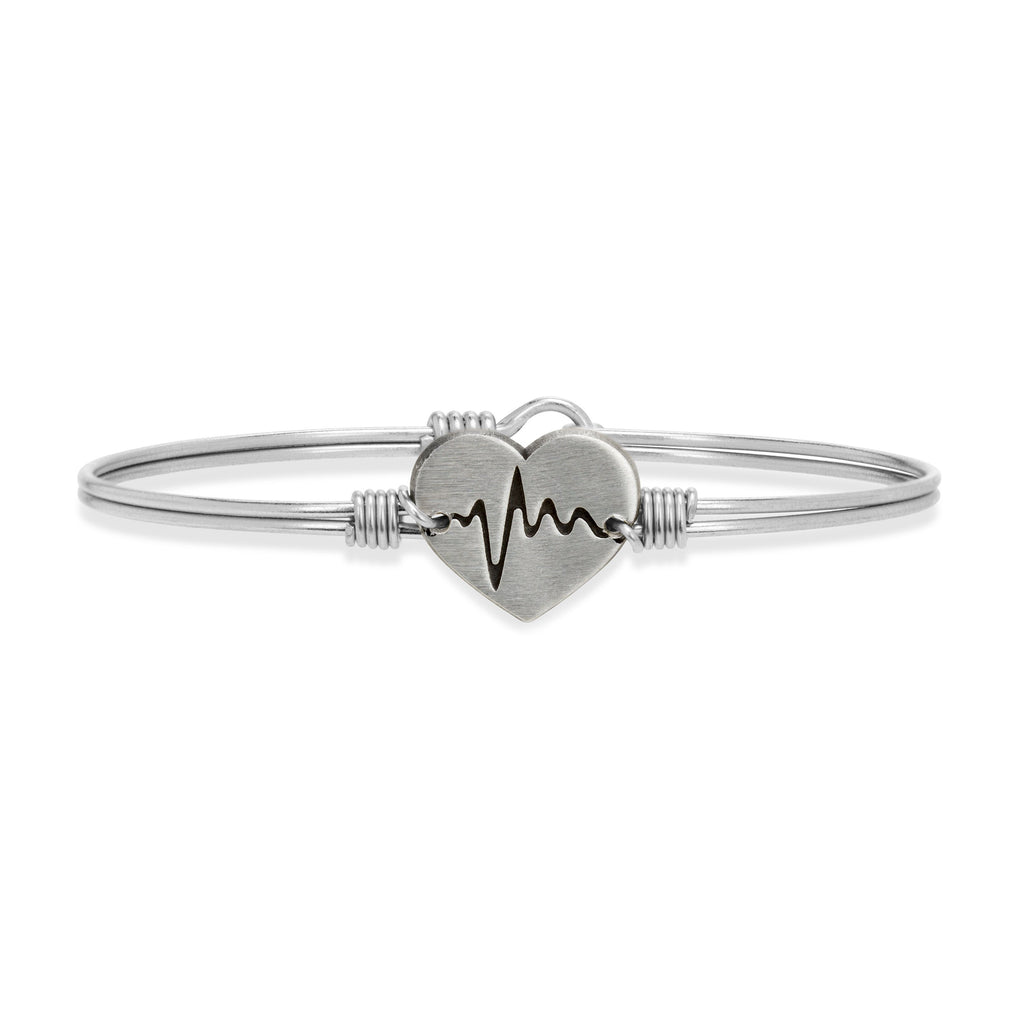 Life Saver Bangle Bracelet choose finish:Silver Tone