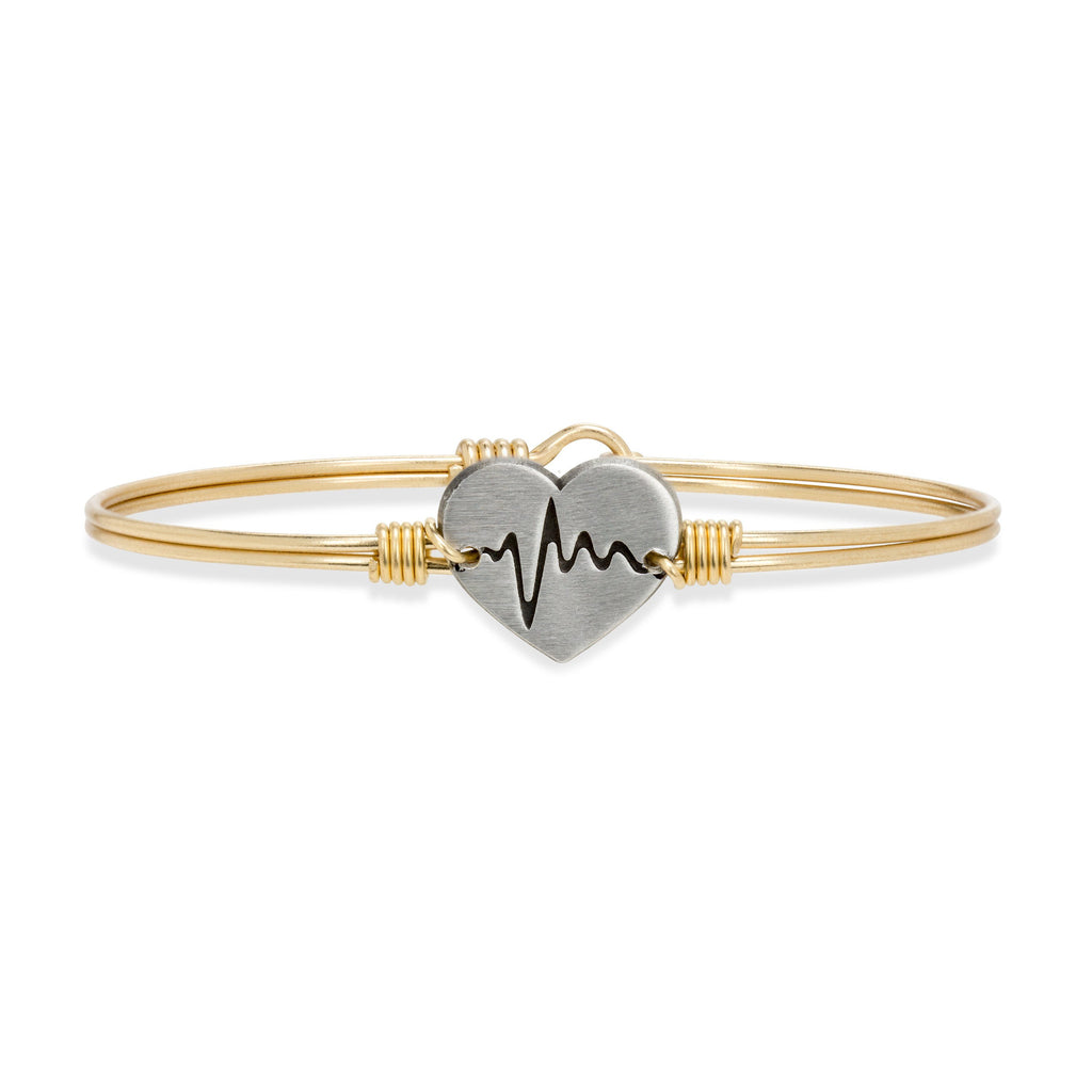 Life Saver Bangle Bracelet choose finish:Brass Tone