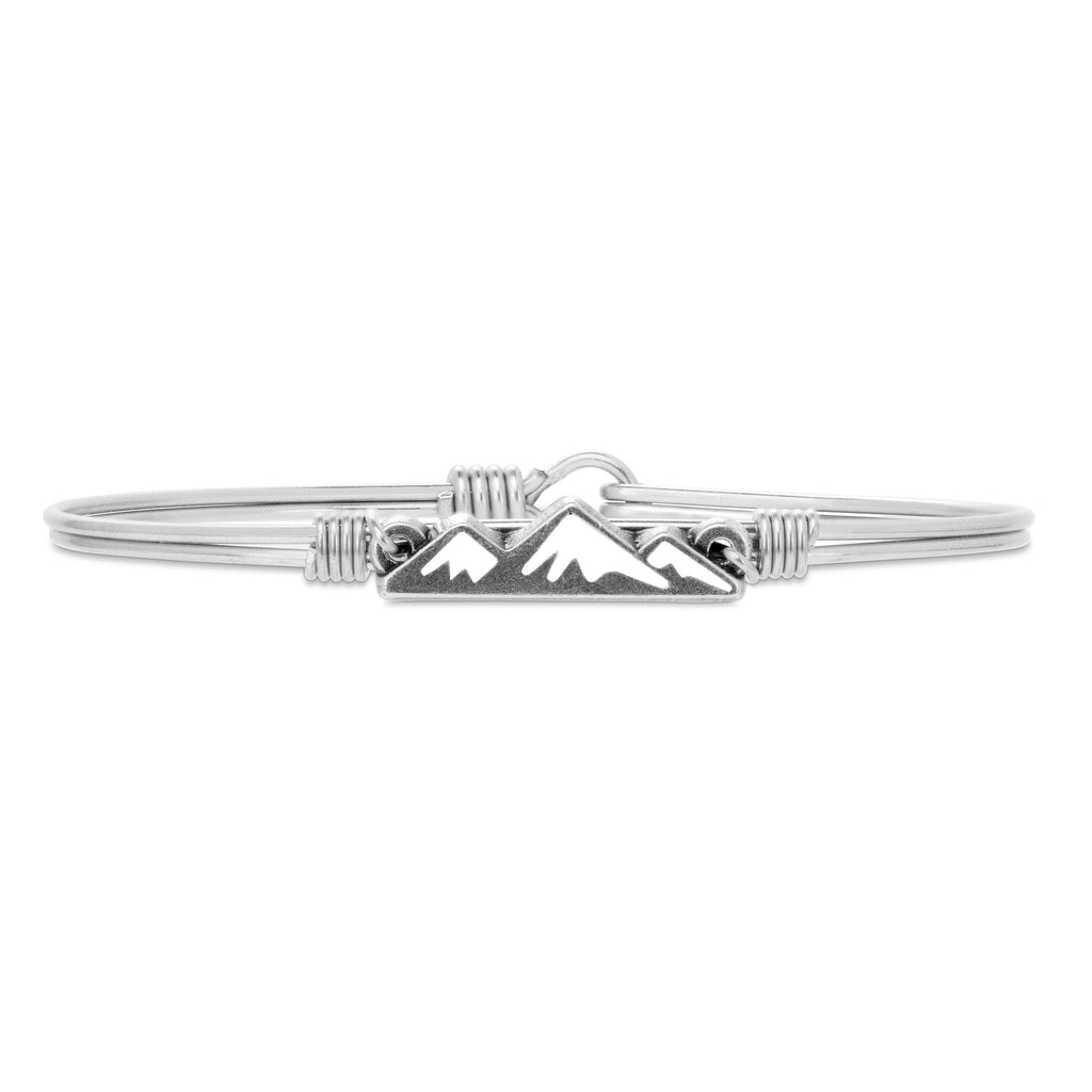 Snowy Mountain Bangle Bracelet finish:Silver Tone