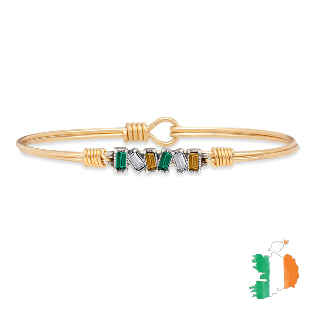 Ireland Mini Hudson Bangle Bracelet finish:Brass Tone