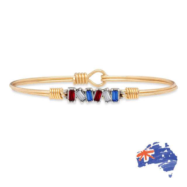 Australia Mini Hudson Bangle Bracelet finish:Brass Tone