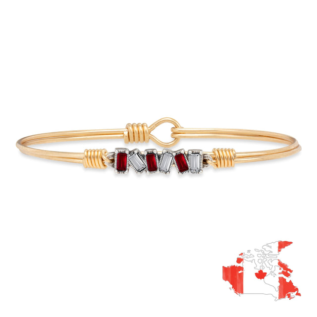 Canada Mini Hudson Bangle Bracelet finish:Brass Tone
