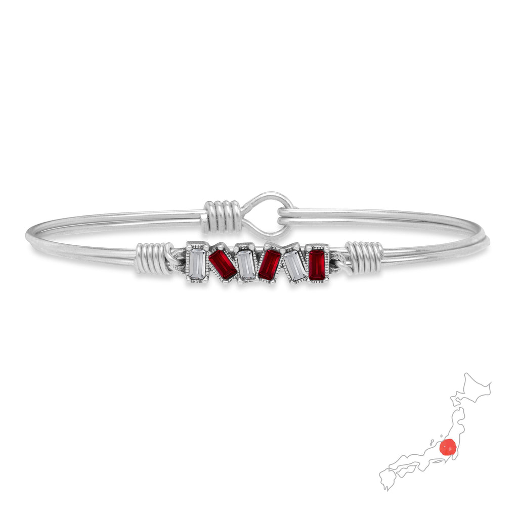 Japan Mini Hudson Bangle Bracelet finish:Silver Tone