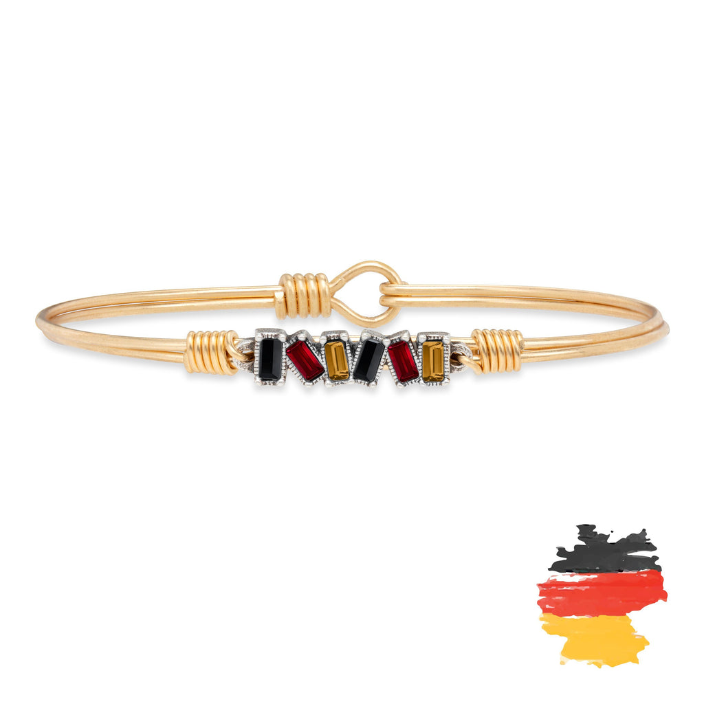 Germany Mini Hudson Bangle Bracelet finish:Brass Tone