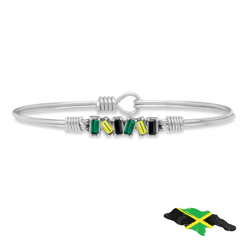 Jamaica Mini Hudson Bangle Bracelet finish:Silver Tone