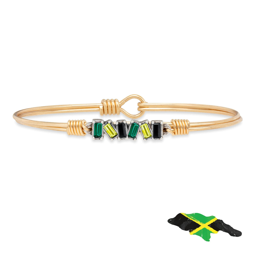 Jamaica Mini Hudson Bangle Bracelet finish:Brass Tone