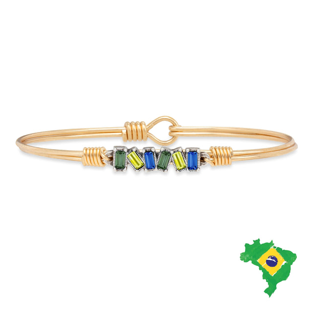 Brazil Mini Hudson Bangle Bracelet finish:Brass Tone