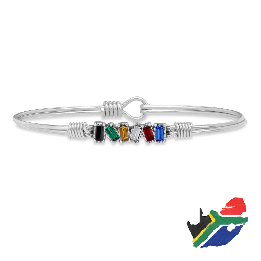 South Africa Mini Hudson Bangle Bracelet choose finish:Silver Tone