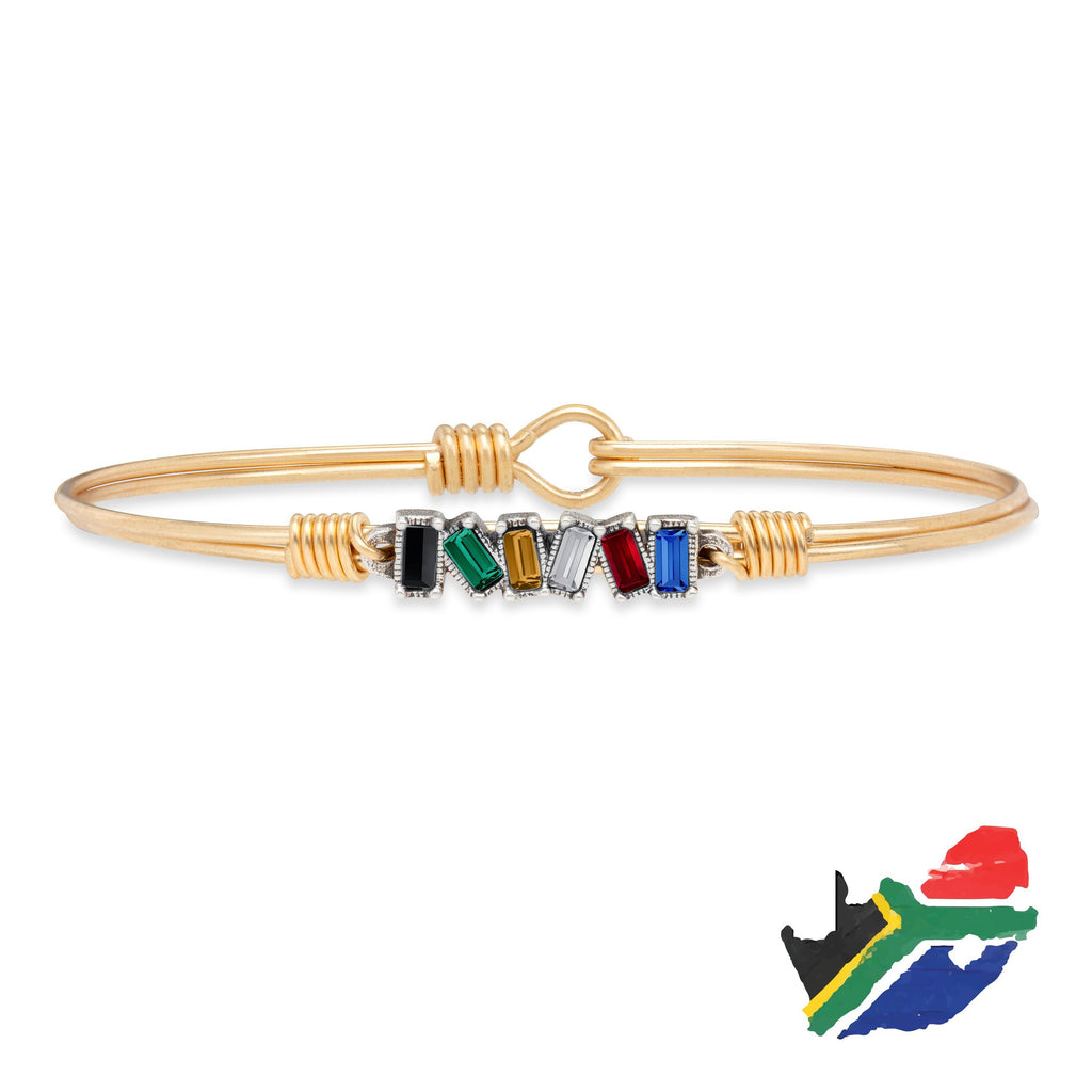 South Africa Mini Hudson Bangle Bracelet finish:Brass Tone