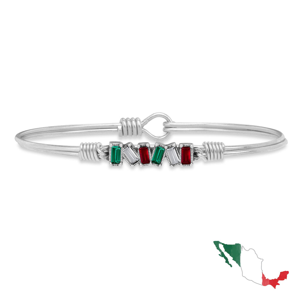 Mexico Mini Hudson Bangle Bracelet finish:Silver Tone