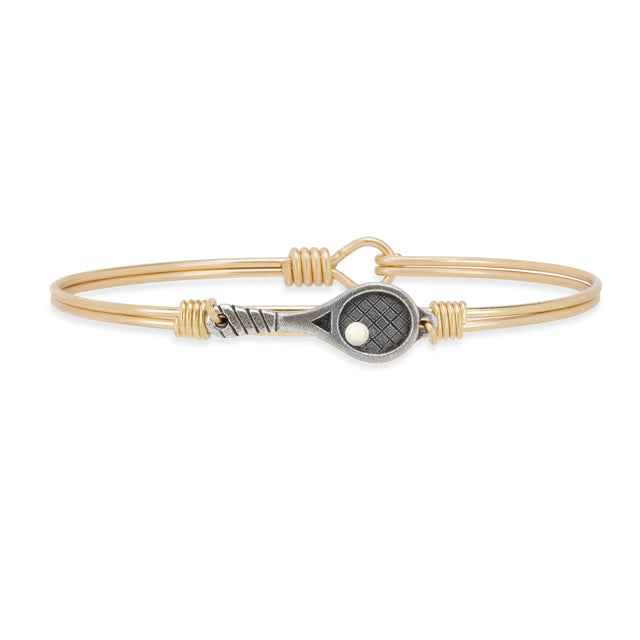 Tennis Bangle Bracelet finish:Brass Tone