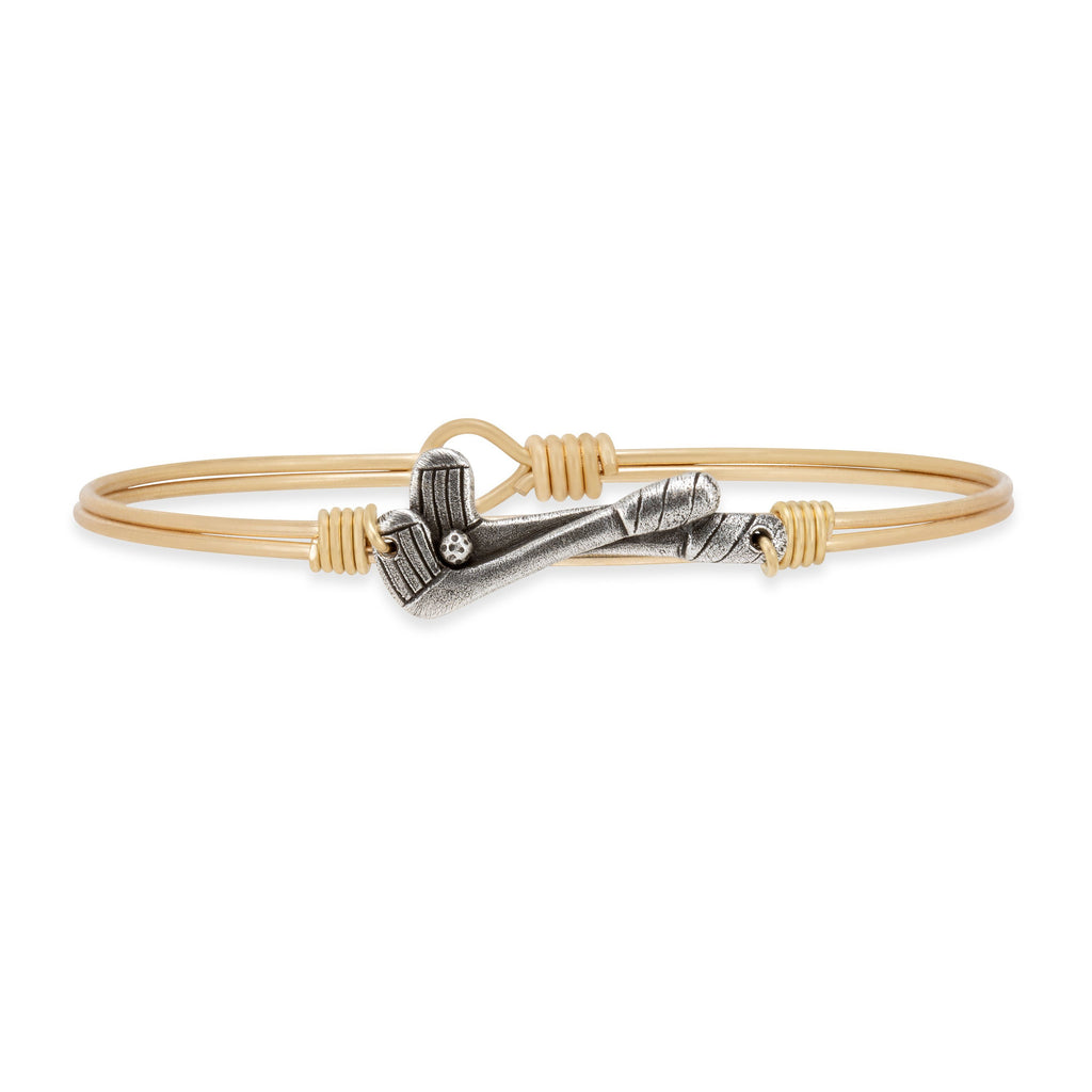 Golf Bangle Bracelet choose finish:Brass Tone