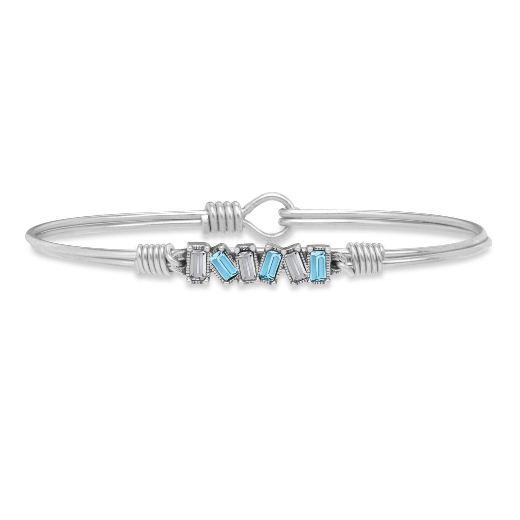 Franklin Street Bangle Bracelet finish:Silver Tone