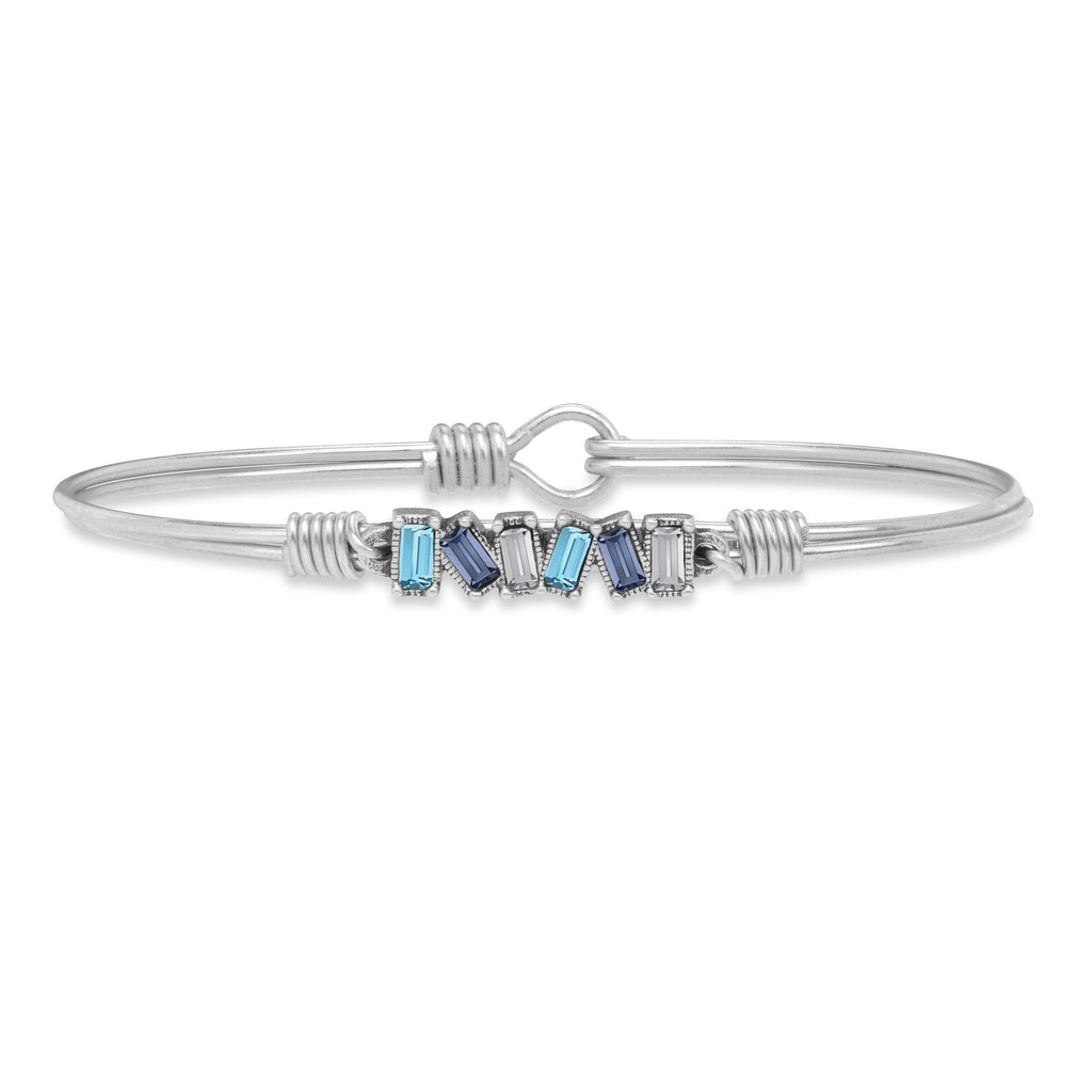 Rhody Bangle Bracelet choose finish:Silver Tone