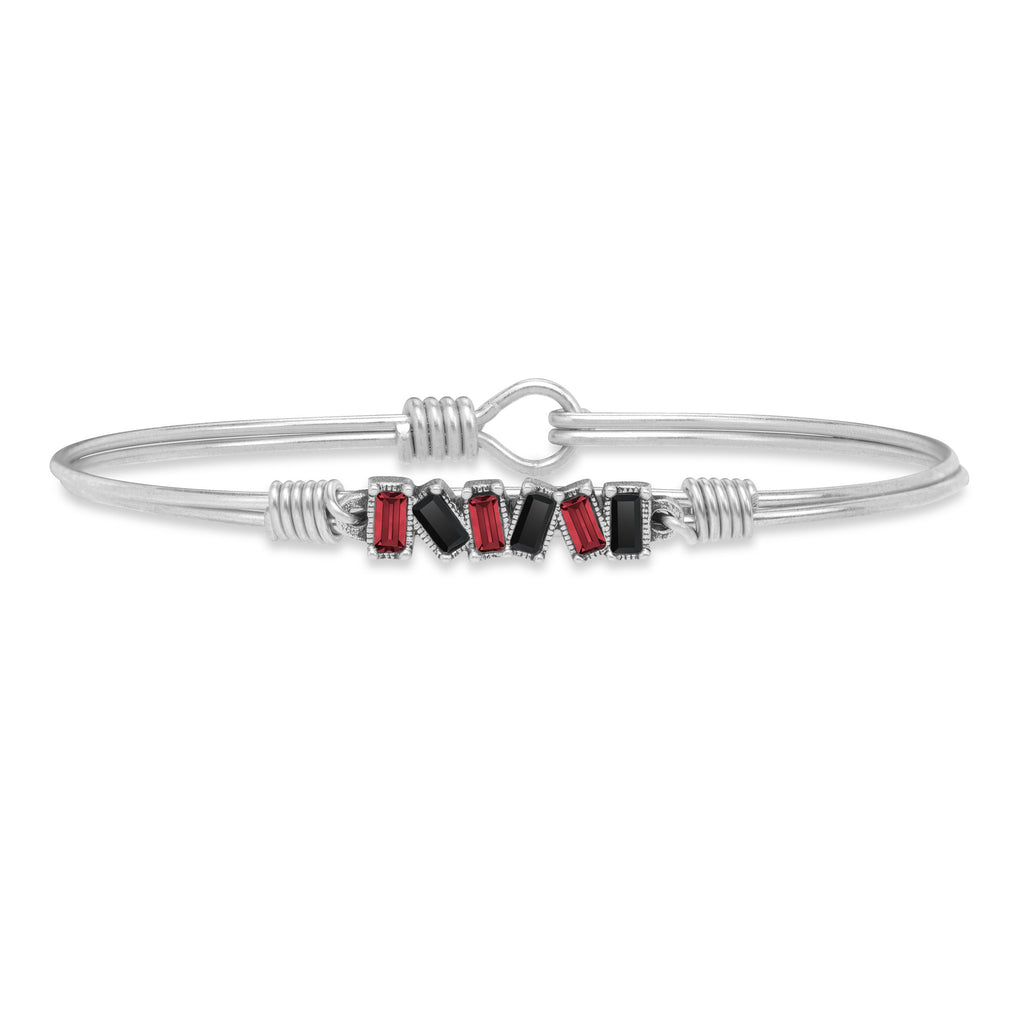 Lubbock Bangle Bracelet choose finish:Silver Tone