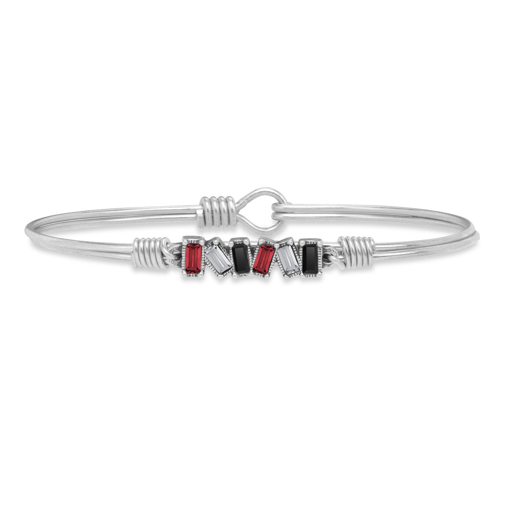 Scarlet Bangle Bracelet choose finish:Silver Tone