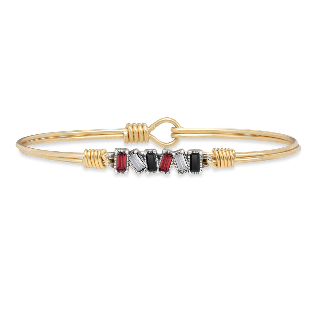 Scarlet Bangle Bracelet choose finish:Brass Tone
