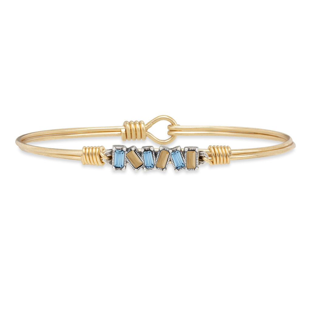 Eight Clap Bangle Bracelet choose finish:Brass Tone