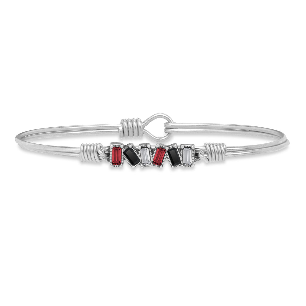 Raleigh Bangle Bracelet choose finish:Silver Tone