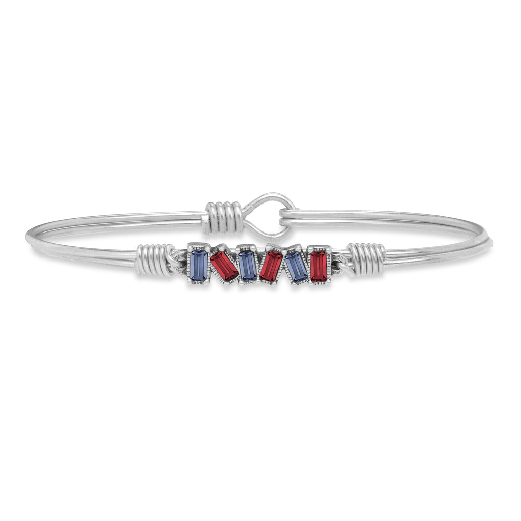 Tucson Bangle Bracelet choose finish:Silver Tone