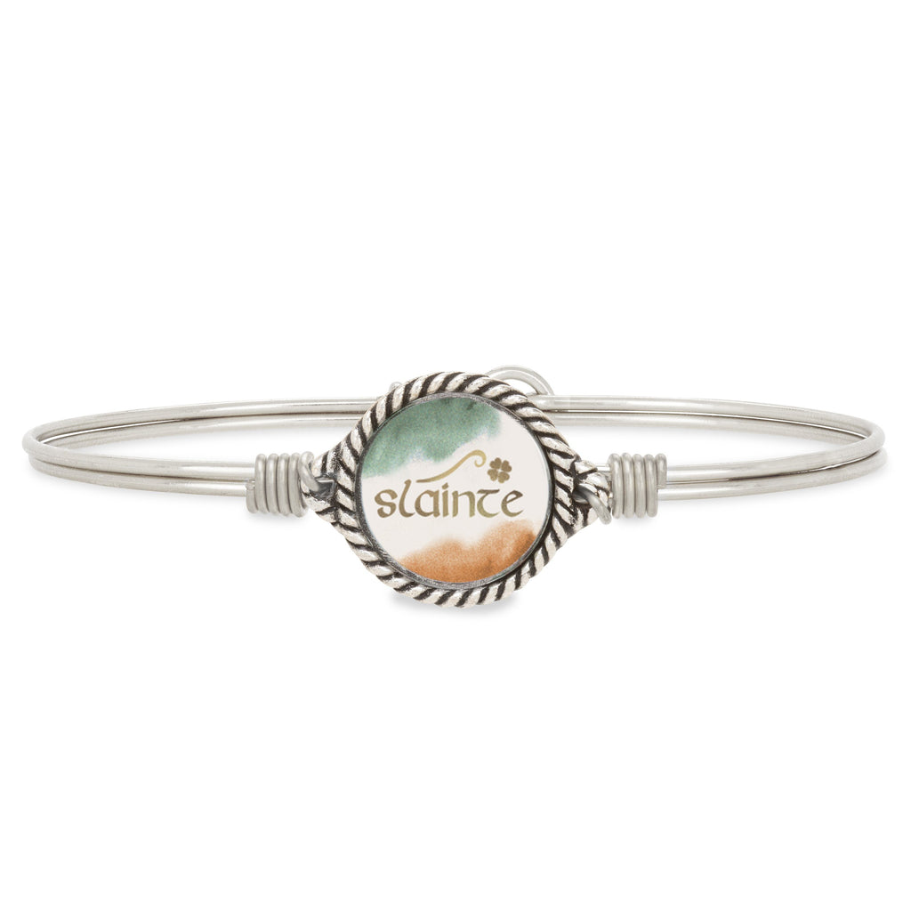 Slainte Bangle Bracelet choose finish:Silver Tone