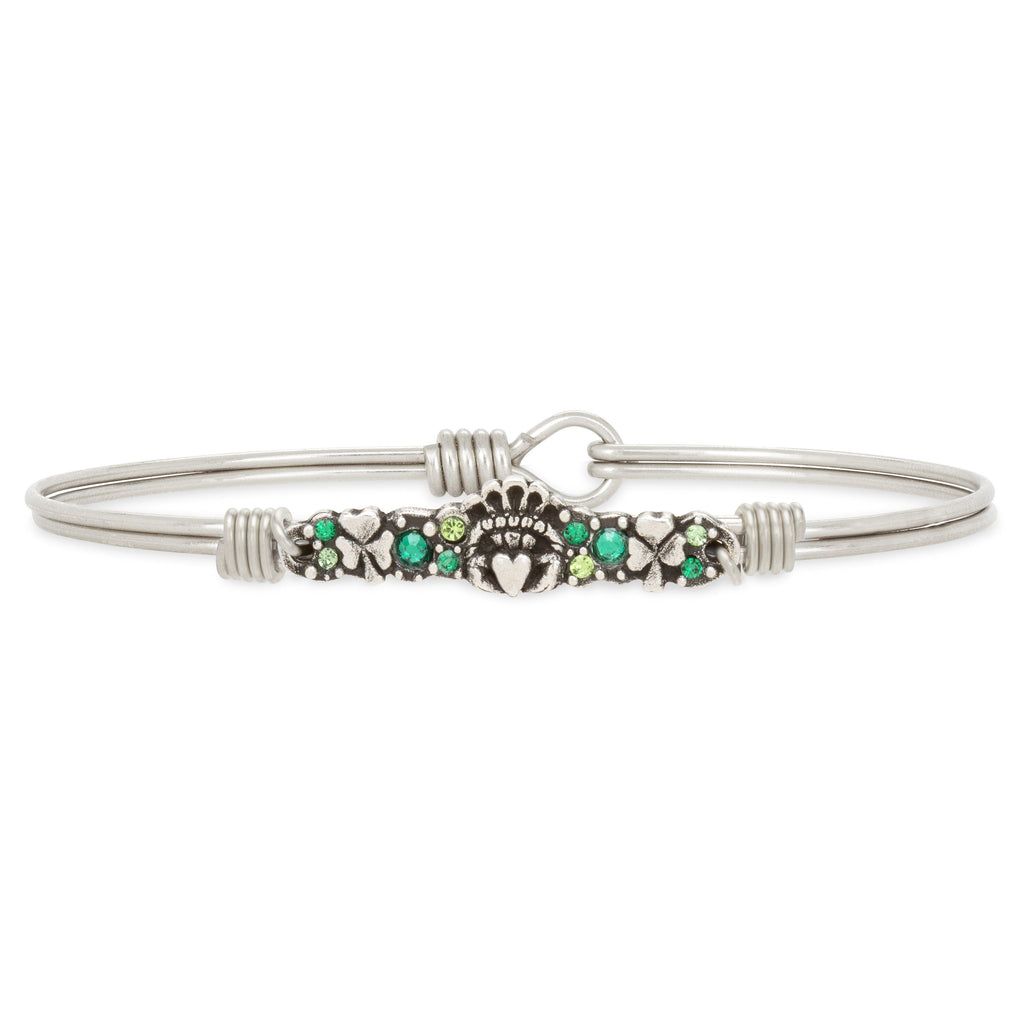 Irish Medley Bangle Bracelet choose finish:Silver Tone