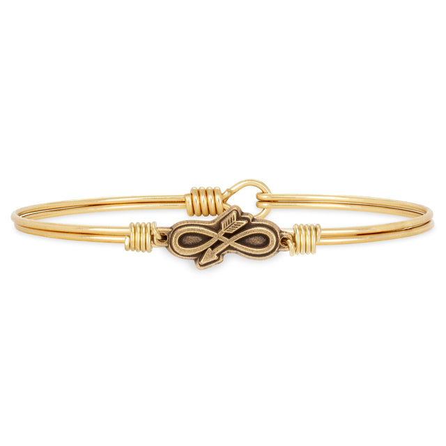 Embrace the Journey Bangle Bracelet finish:Brass Tone