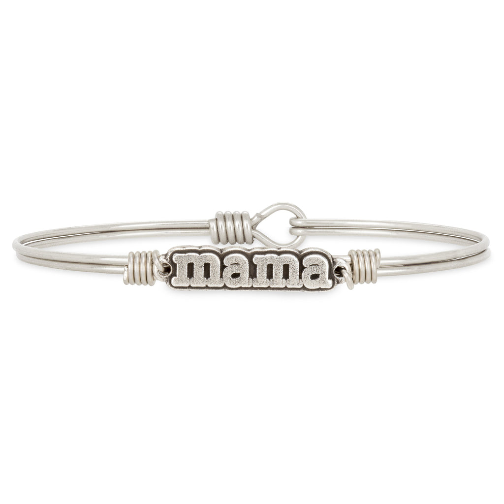 Mama Bangle Bracelet choose finish:Silver Tone