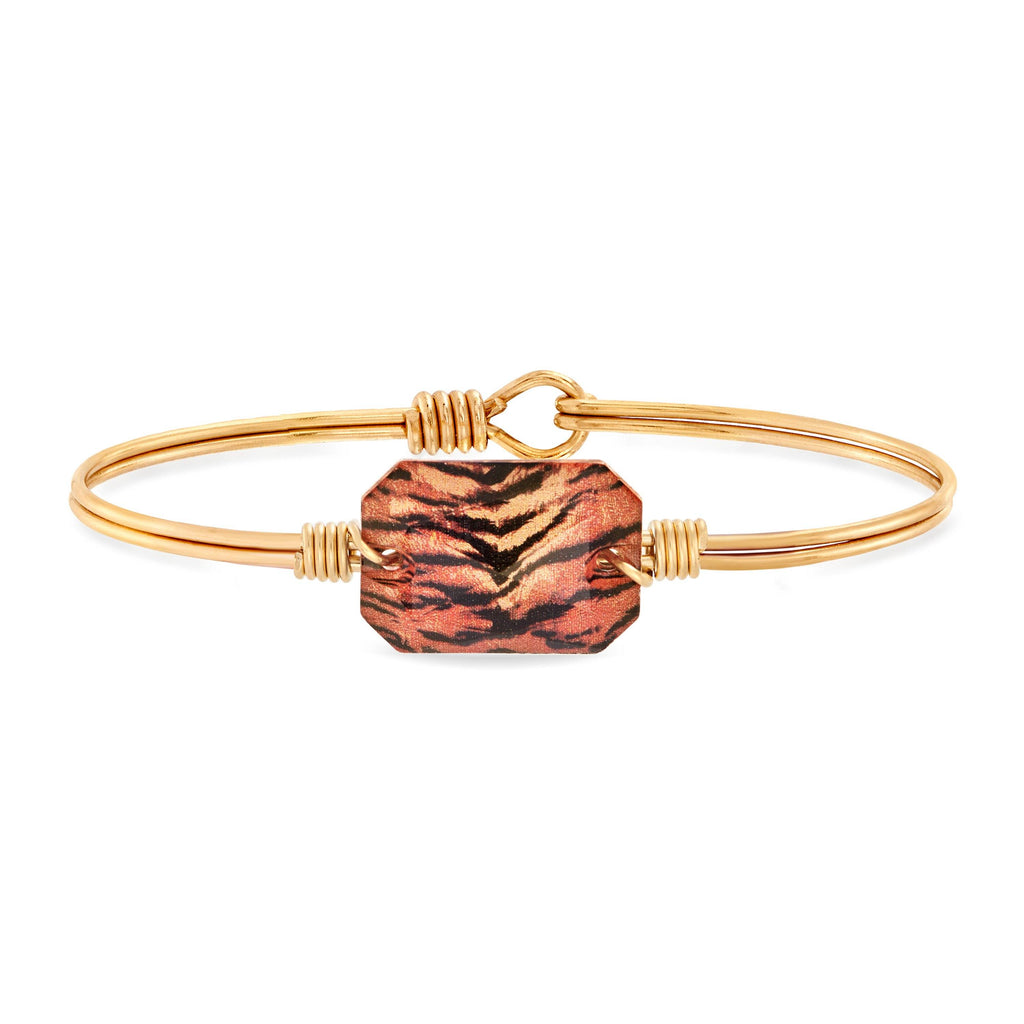 Dylan Bangle Bracelet in Tiger finish:Brass Tone