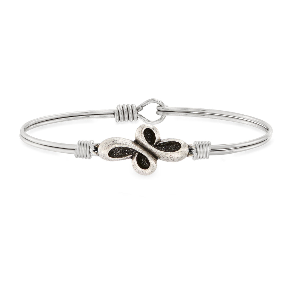 Eternal Cross Bangle Bracelet choose finish:Silver Tone